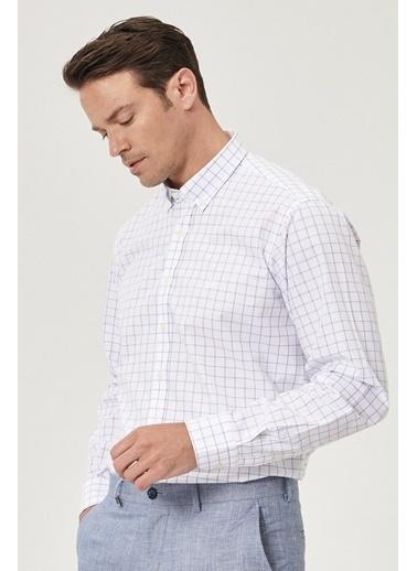 Beymen Business 4B2019200035 Regular Fit Gömlek Kareli Beyaz